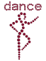 Preview: strass-logo-dance-dunkelrot
