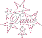 Preview: strass-motiv-dance-stars-pink